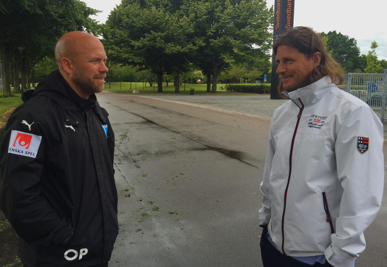 Photo of Sopi och Persson inför derbyt