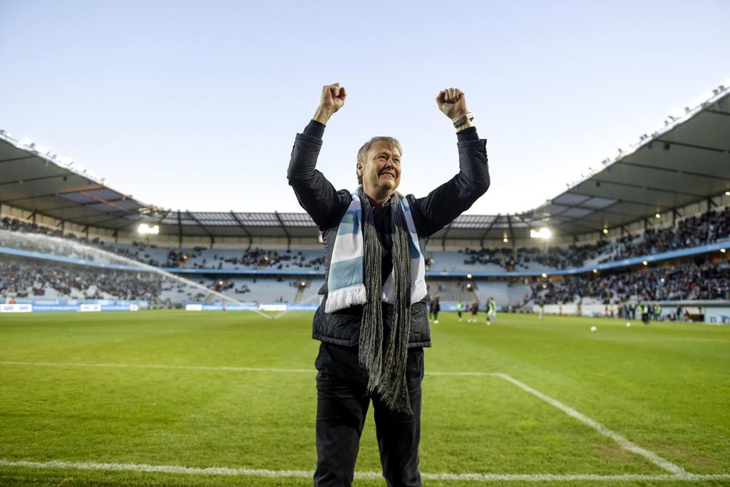 Photo of Hareide, MFF-tröja och HK Malmö i topp