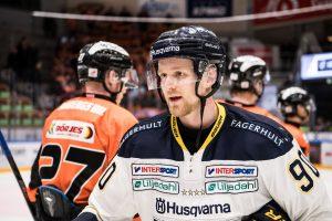 170302 HV71:s Ted BrithŽn efter ishockeymatchen i SHL mellan Karlskrona och HV71 den 2 mars 2017 i Karlskrona. Foto: Magnus Lejhall / BILDBYRN / Cop 214