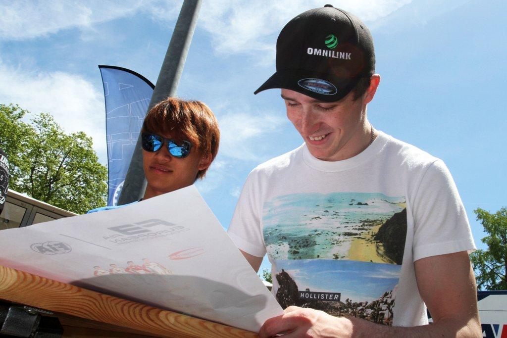 Photo of Joel Eriksson i delad ledning i Formel 3-EM