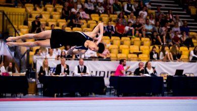 Photo of Tre hårt jobbande gymnaster i Malmö idrottsakademi