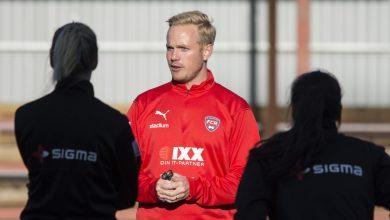 Photo of FC Rosengård träningsspelar mot pojklag