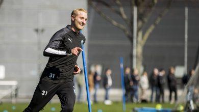Photo of MFF-backen Franz Brorsson redo för årets första tävlingsmatch