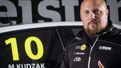 Photo of Martin Kudzak kör för Brink Motorsport under STCC-testet