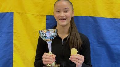 Photo of Tonya Paulsson tog SM-guld i kvinnlig artistisk gymnastik