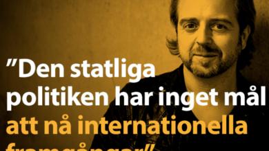 """Photo of Norberg: """"Den statliga politiken har inget mål att nå internationella framgångar"""""""