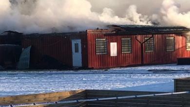 Photo of En sorgens dag för Eslövs BK – klubbhuset i brand