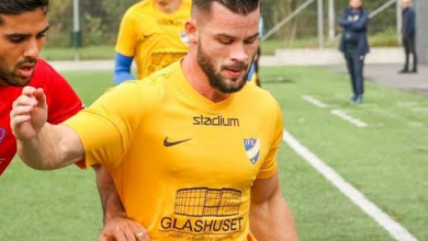 """Photo of Nichlas Schön IFK Klagshamn: """"Bästa uppladdningen är om jag slipper höra Ogges musik i omklädningsrummet"""""""