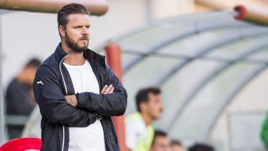 """Photo of Andreas Dahl tränare i Glumslövs FF: """"Mycket matcher när vädret och gräsmattorna är som bäst"""""""