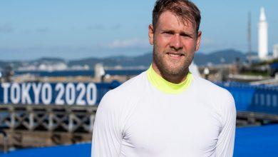 Photo of Skåningen Max Salminen fanbärare i OS