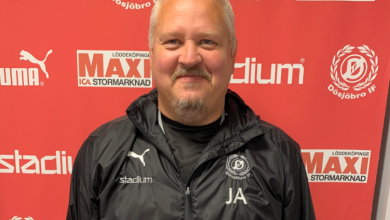 """Photo of Johan Augustsson i Dösjöbro IF: """"Tror nog att vi har den bästa truppen"""""""
