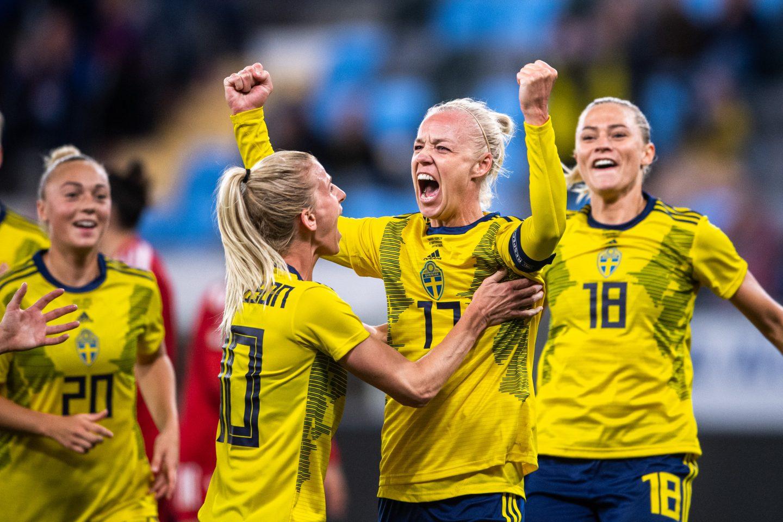 Damlandslaget i fotboll spelar VM-kval i Malmö