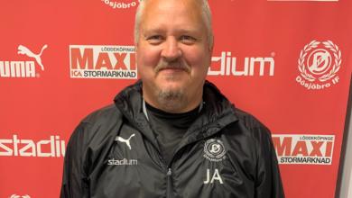 """Photo of Tränare Johan Augustsson i Dösjöbro IF: """"Har ett bra läge att vinna serien"""""""